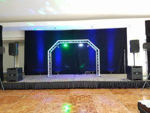 Scene, écran et systeme de son avec éclairage