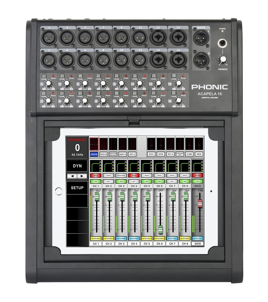 Phonic model Acapela 16, console digital 16 caneaux
