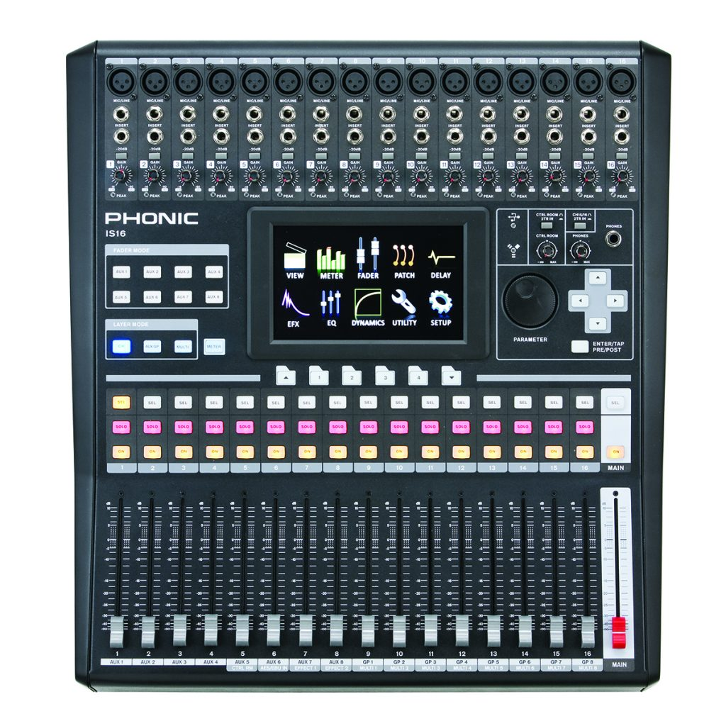 Phonic model IS16, Console digital 16 caneaux