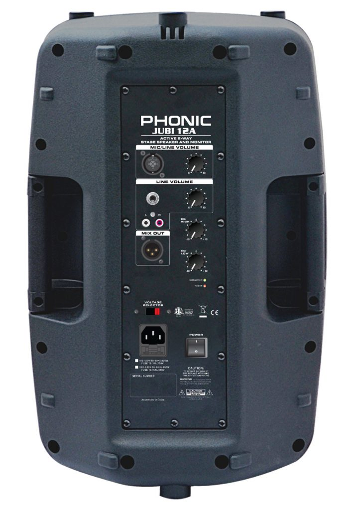 Phonic Jubi 12A Litevue arrière